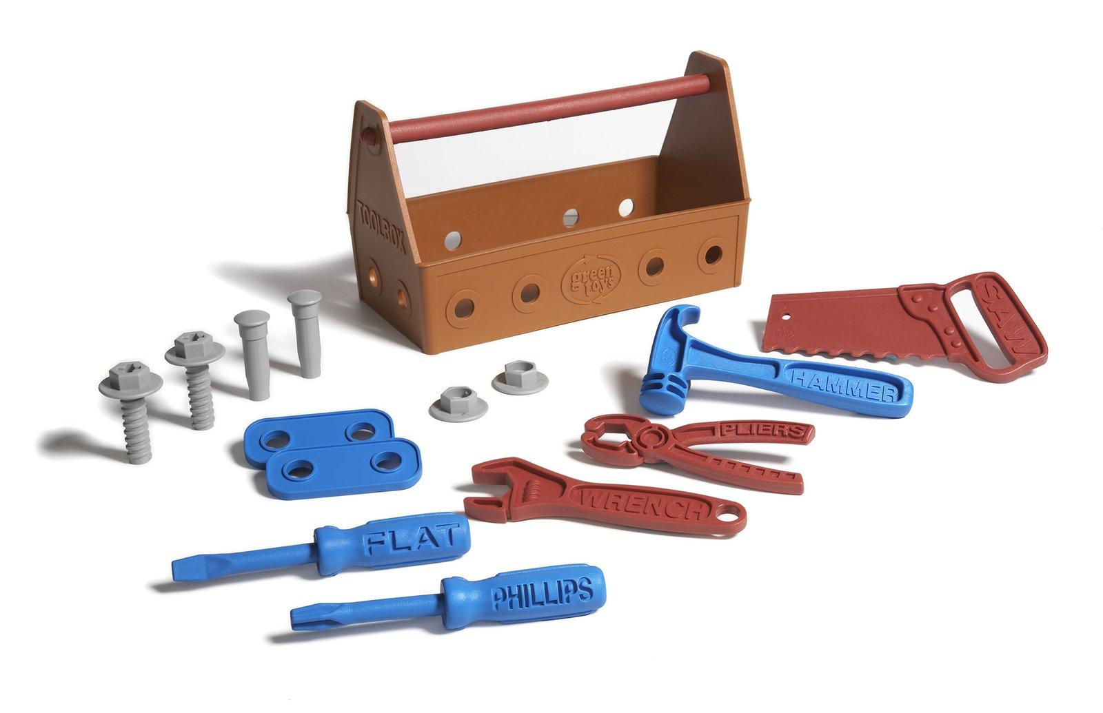 Toy Tool Kits For Boys : Green toys tool set
